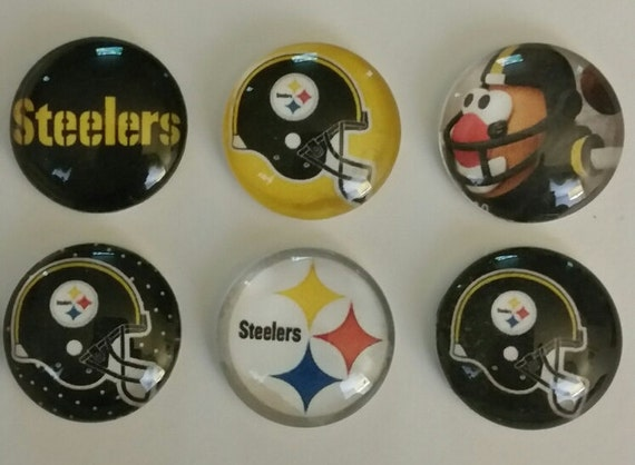 Pittsburgh Football Magnets Set Of 6 1 Round Glass