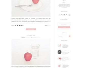 Responsive Premade Blogger Template - Clean Minimalist Design - Simple Blog - Fashion -Blogspot