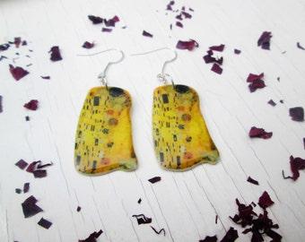 klimt earrings image earrings gustav klimt kiss women's jewelry