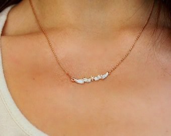 Wings necklace, dainty necklace, gold charm necklace, rhinestone necklace, bat necklace, gold necklace, gold chain necklace