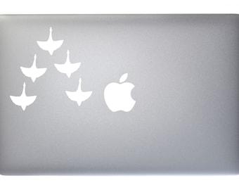Migrating Goose Gander - Vinyl Decal for Macbook, Laptop, Wall, Window
