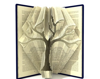 Book folding pattern - FAMILY TREE - 295 folds + Tutorial with Simple pattern - Heart - FL0202