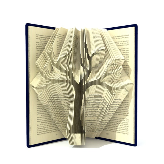 Book Folding Pattern Family Tree 295 Folds Tutorial