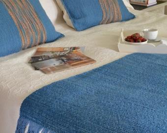 Light blue/Light blue orange bed set bed set