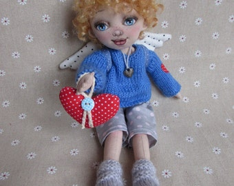 textile dolls Сhildren angel