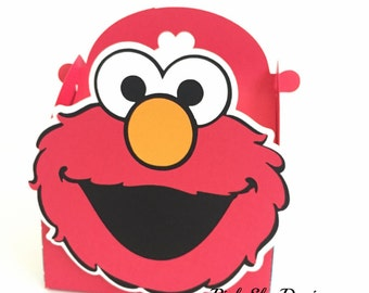 Free Shipping- 12 Elmo favor boxes | Sesame Street treat gable box | Elmo  birthday party or baby shower decor | Sesame Street goody box!