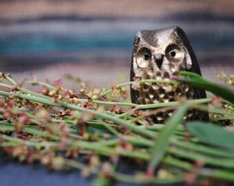 Handmade Ceramic owl whistle