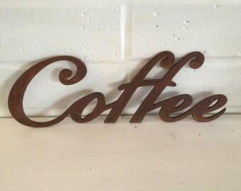 Rustic Metal Coffee Sign