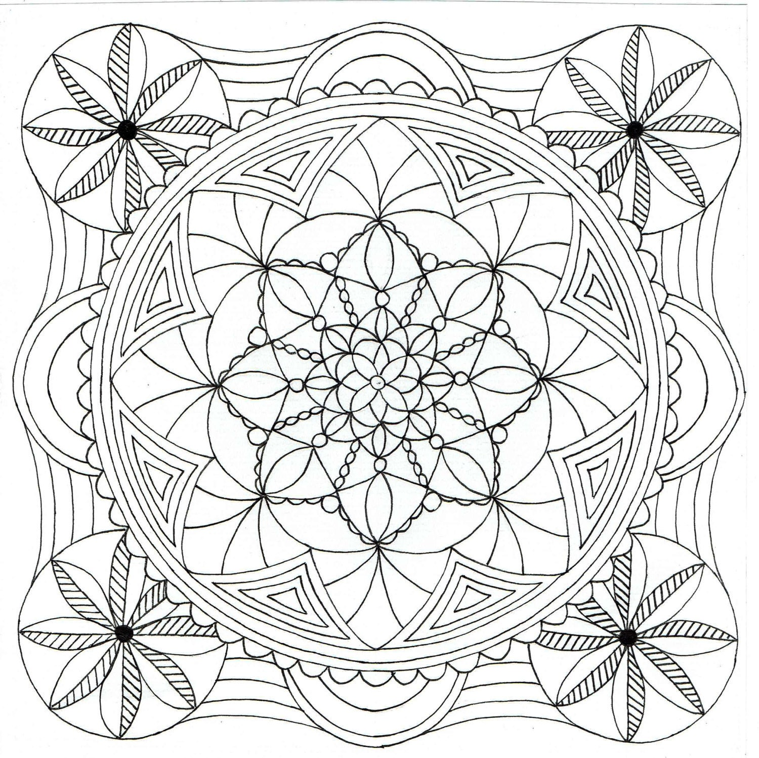 square coloring pages - square mandala coloring pages tessalation coloring pages