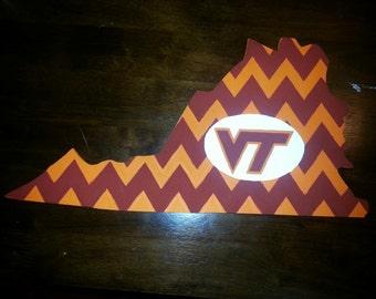Virginia Tech Wooden Sign