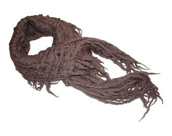 Dusty Rose Merino Wool Scarf / Women's scarf / Wool Scarf / Felted Scarf / Scarf