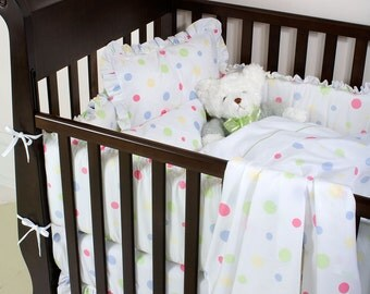 DOTTY BABY Bedding - 3pc BABY Set - Fun, bright, Colourful Bedding options for your children's bedroom decor - Bedroom, dots, colours