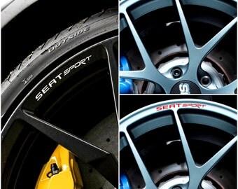 x8 SEAT SPORT Rims Alloy Wheel Decals Stickers Graphics Kit - Ibiza Leon Cupra St FR Exeo Altea Mii Toledo Alhambra