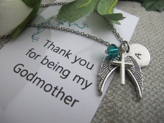 Godmother Gift Godparent Gift Personalized Gift For: Godmother Gift Godmother Necklace Godmother Jewelry