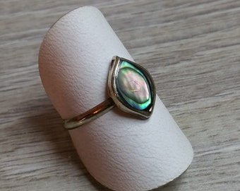 835 silver ring with abalone shell 18 mm SR255