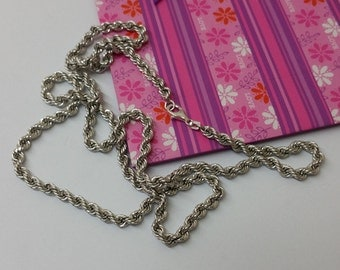 Chain silver necklace 925 Silver Chain FBM length 82 cm SK766