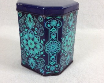 Salome Ian Logan JRM Design Tin Canister Box Blue Tin Canister IAN LOGAN