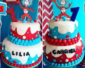 Thing 1 & 2 Cake Toppers