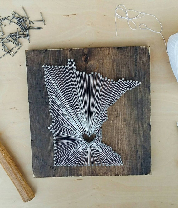 Minnesota String Art State String Art Minnesota Nail Art