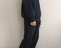 WWYF Baggy 90s Slouch Fit Joggers in Black