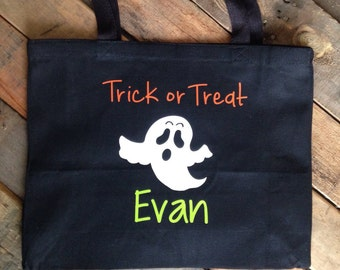 Personalized Halloween Bags  Personalized Trick or Treat Bags Kids Halloween Bags Kids Trick or Treat Bags Canvas Trick or Treat Bag