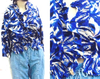 90's FUNKY TIE DYE Blouse,Tee shirt,boho