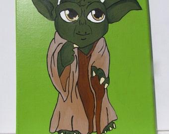 Yoda Starwars Painting