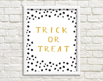 Printable Wall Art, Halloween Printable, Gallery Wall, Trick or Treat Print, Printable Wall Decor, Printable, Gallery Wall Printable
