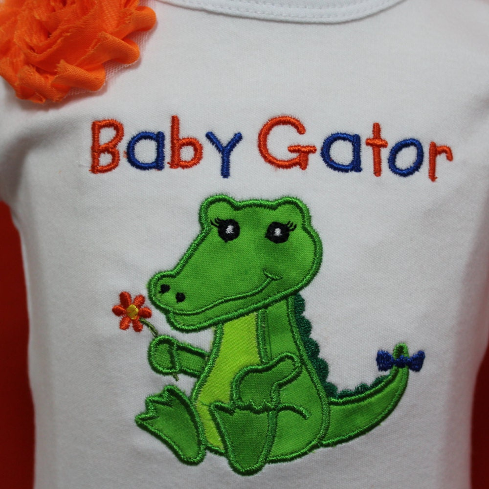 Baby Gator girl outfit Gator Girl outfit UF baby clothes