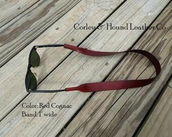 Free Shipping - Leather Croakies Sunglasses holder strap