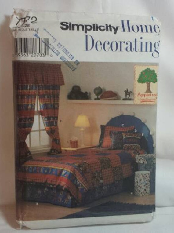 Bedding Accessories Sewing Pattern Twin Size Duvet Cover And