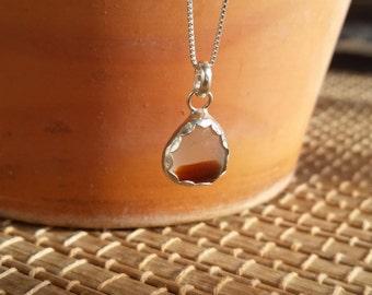 Seaham Sea Glass Pendant, Sea Glass Jewelry, Sea Glass in Sterling Silver Bezel Setting Pendant, English Sea Glass, English Multi Sea Glass