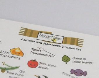 Autumn/ Halloween Bucketlist Stickers