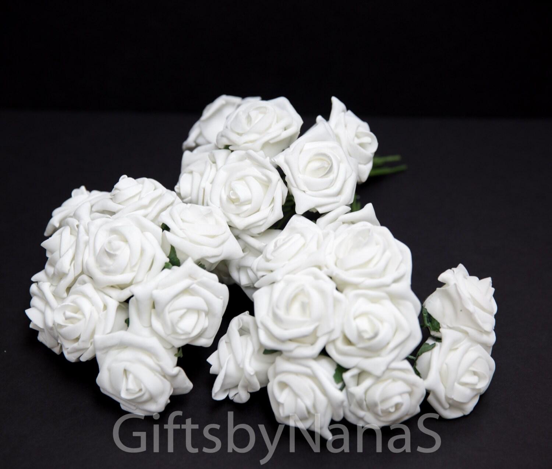 white foam roses large white roses bulk silk flowers cheap silk flowers white wedding roses. Black Bedroom Furniture Sets. Home Design Ideas