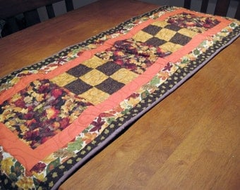 Fall Themed Quilted Table Runner