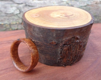 Burl Wood Band Ring,mens engagement ring,mens wood wedding band,wood rings for women,burl wood rings for men,burl rings,Free 3 Day Shipping!