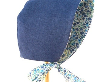 Liberty Print 'Phoebe' cotton / linen baby bonnet