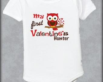 Personalized Owl First Valentine Day Shirt 1st Valentine shirt