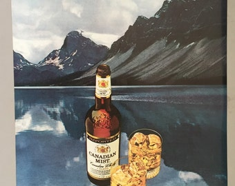 """1980, 1981 Lot of 2 Canadian Mist Print Ads - """"Canada at its best"""""""