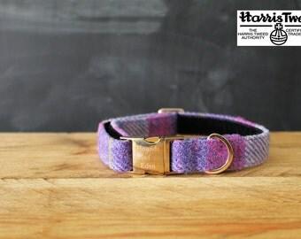 Molly - Designer Harris Tweed Dog Collar Handmade