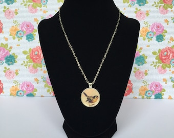 Cute Little Birdie Necklace - Bird Necklace - Animal Necklace - Handmade Bird Necklace