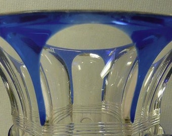 Blue cut to clear Bohemian Beaker