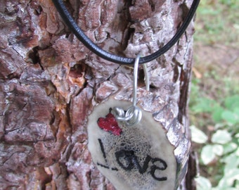 Love Necklace, Love & Heart Necklace, Red Heart Necklace, Love Jewelry, Love First Necklace, Red Heart Jewelry, Heart Jewelry, Country Love
