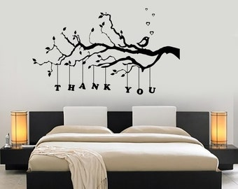 Wall Decal Tree Branch Thank You Vinyl Sticker Mural Art 1432dz