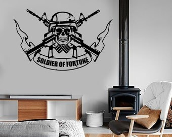 Wall Vinyl Army Soldier Of Fortune Guaranteed Quality Decal Mural Art 1663dz