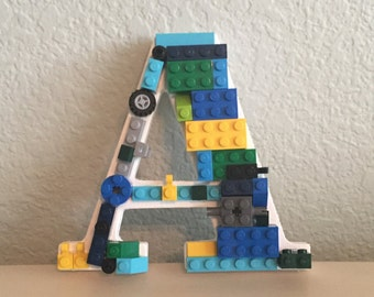 Letter A with LEGO® bricks *Free Shipping*