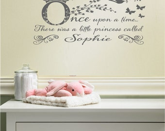 Once upon a time personalised wall sticker