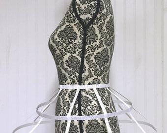 Cage Skirt Loop Skirt white  Size S-L