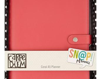 SALE - 15% OFF - Carpe Diem A5 Planner by Simple Stories - Coral