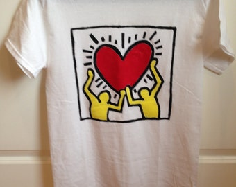 Vintage Keith Haring Screenprinted T-shirt